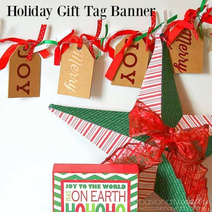 Holiday Gift Tag Banner