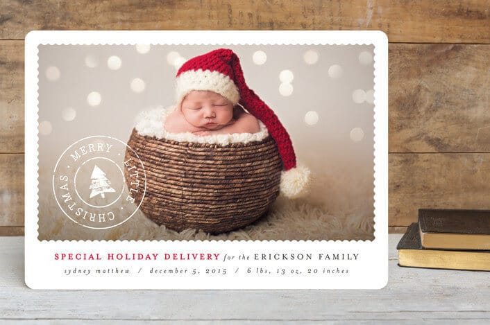 classic holiday post holiday birth announcements - Minted.com - Holiday Card Checklist and Tips on Kenarry.com