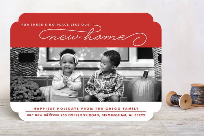home for the holidays holiday photo cards on Minted.com - Holiday Card Checklist and Tips on Kenarry.com