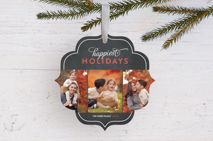 classic happiest holiday ornament cards - Minted.com Holiday Card Checklist and Tips on Kenarry.com