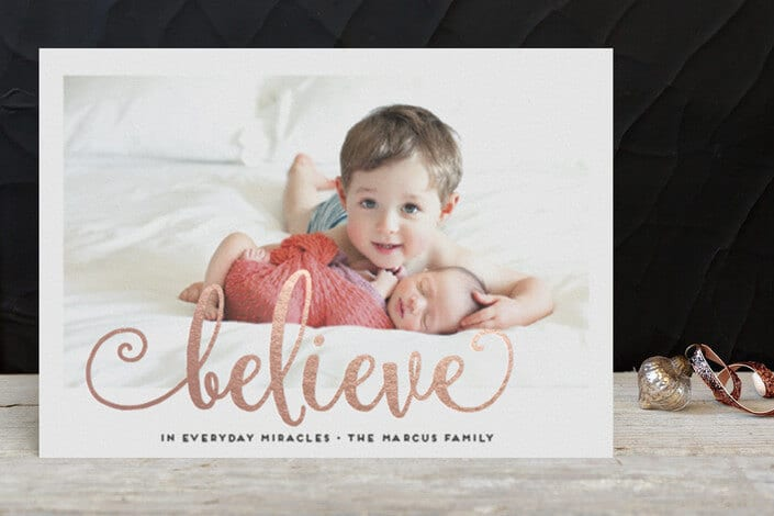 Rose Gold Foil Pressed Holiday Cards at Minted.com - Holiday Card Checklist on Kenarry.com