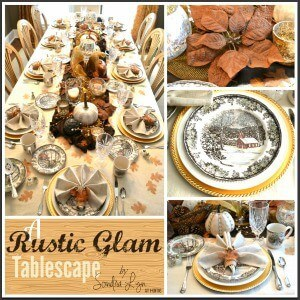 Rustic Glam Fall Tablescape – Sondra Lyn at Home