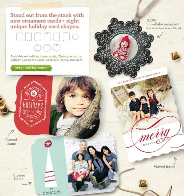 Unique Shaped Holiday Cards on Minted.com - Holiday Card Checklist and Tips on Kenarry.com