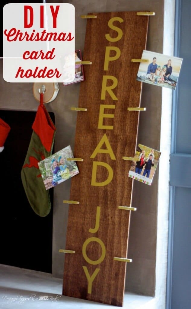 DIY Christmas Card Holder – Designer Trapped in a Lawyer's Body - 18 Ideas for Displaying Christmas Cards on Kenarry.com