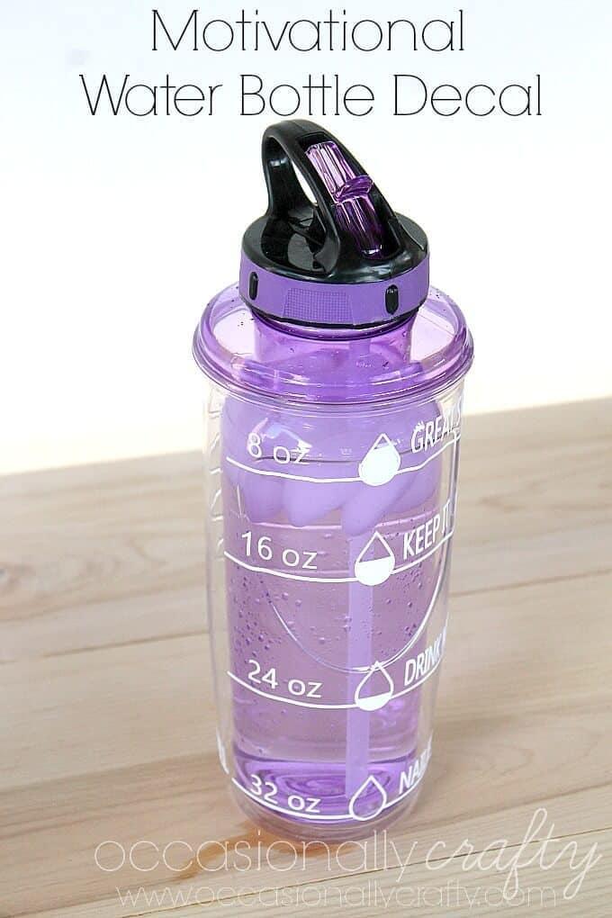 Motivational Water bottle Decal