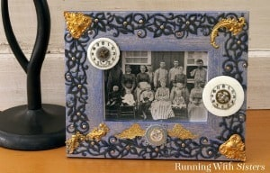 Steampunk Chic Picture Frame - Running With Sisters
