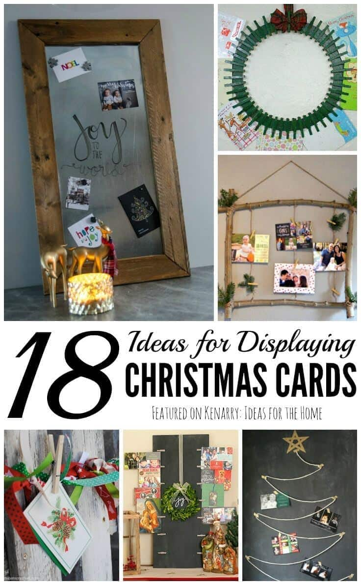 These are fantastic DIY ideas for displaying Christmas cards! I love how it makes the holiday cards part of your home decor.