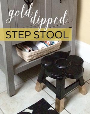 gold dipped step stool