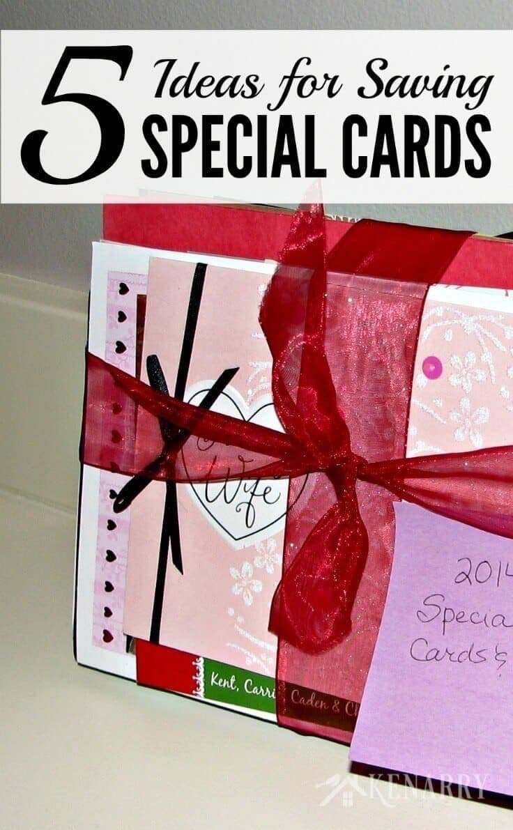 These are great tips and ideas for keeping special cards and notes you get during the year for birthdays, anniversaries, holidays, and thank you cards.