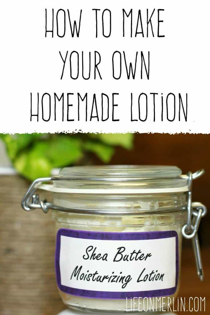 How to Make Your Own Homemade Lotion, an easy DIY recipe with Shea butter to soothe your skin.