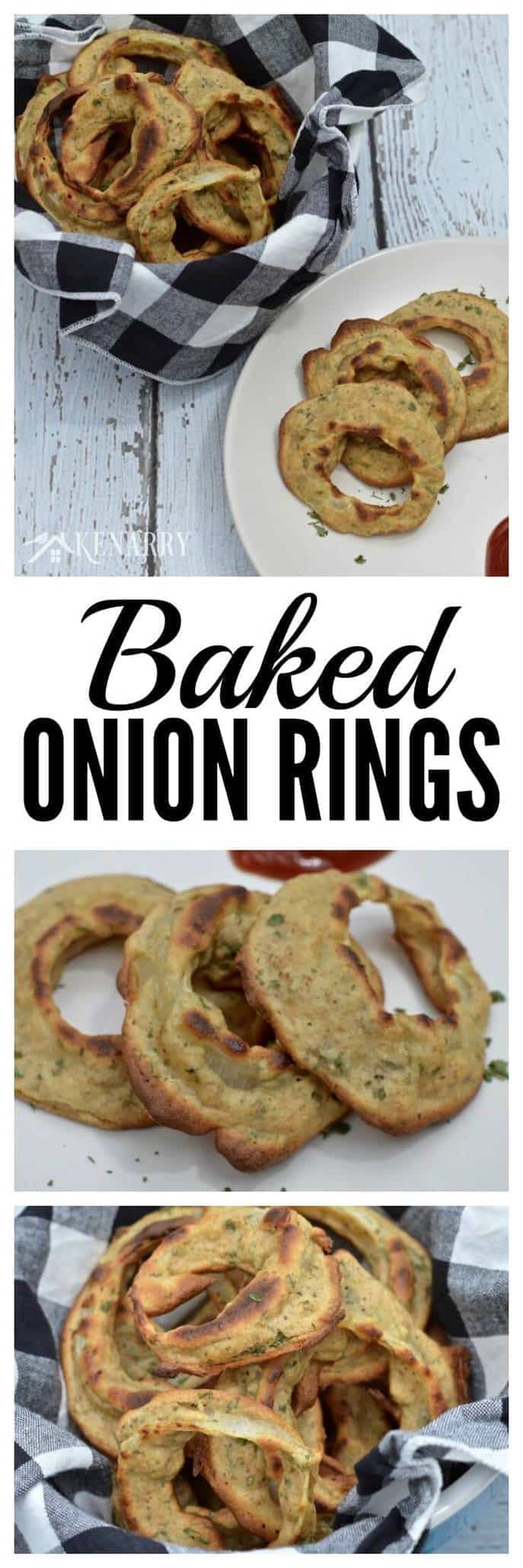 Homemade baked onion rings - how to make this healthy appetizer.
