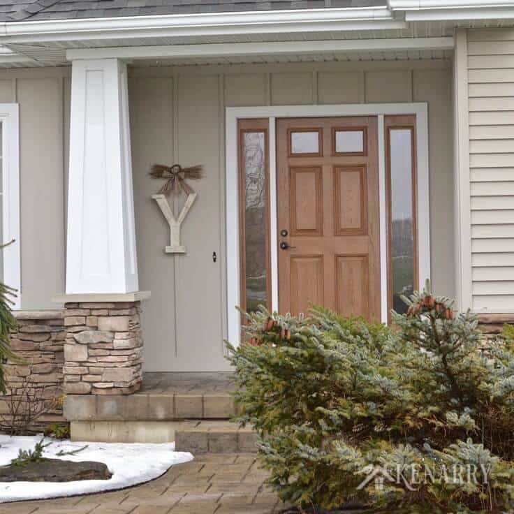Love This Large Winter Monogram Decor For Outside The Front Door. It Would  Also Be