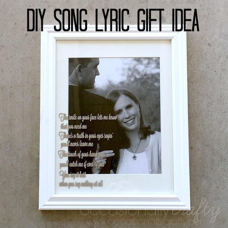 Diy Personalized Wedding Gifts: Song Lyrics DIY Wedding Gift