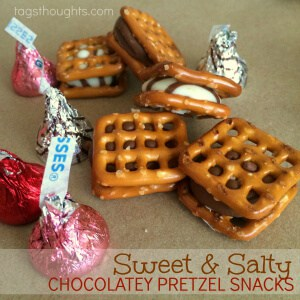 Sweet and salty chocolatey pretzel snacks from Trish Sutton.