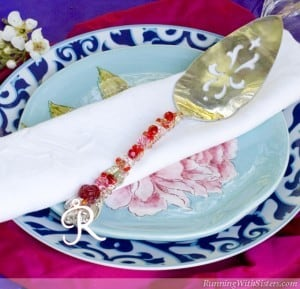 Make a pretty gift with a crystal wrapped cake server.