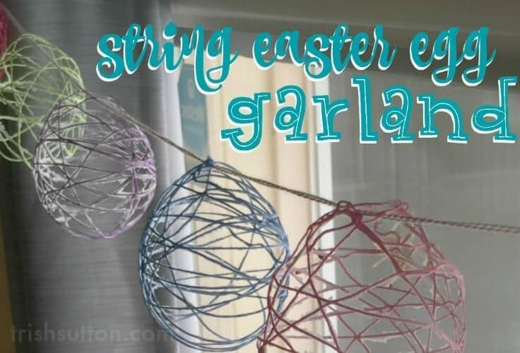 Colorful DIY Spring Decor: String Easter Eggs can be used as a table centerpiece, placed on bookshelves individually or they can be strung as garland.