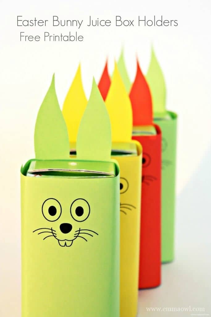 Easter Bunny Juice Box Free Printable - Emma Owl - Easter Treats featured on Kenarry.com