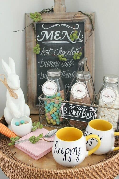Easter Hot Cocoa Bar - Clean and Scentsible - Easter Treats featured on Kenarry.com
