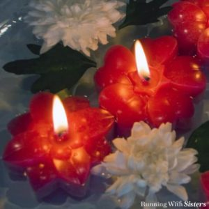 Learn to make floating flower candles using a silicone mold.
