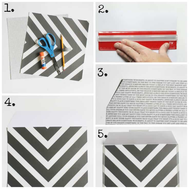 How to Make Scrapbook Paper and Washi Tape Envelopes 8x10