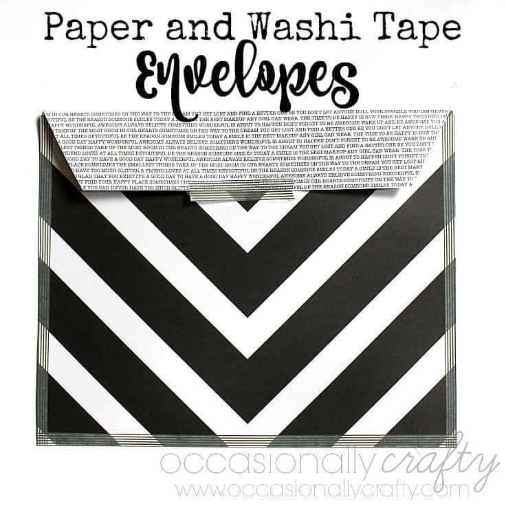Scrapbook Paper and Washi Tape Envelopes