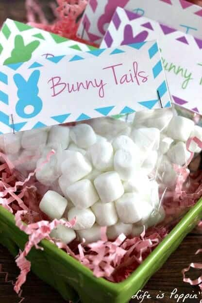 Bunny Tails Treat Bags with Free Printable - Life is Poppin - Easter Treats featured on Kenarry.com