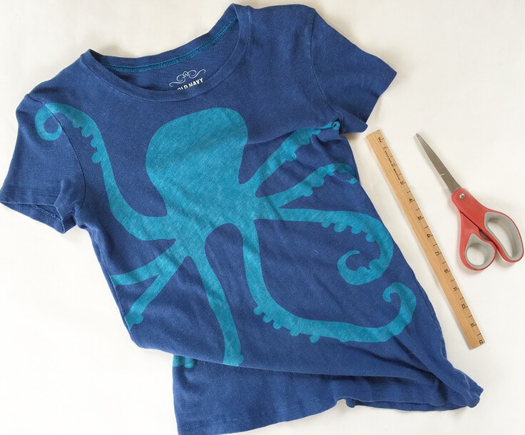 all the materials you need to upcycle your favorite T-shirt to a fresh tote bag