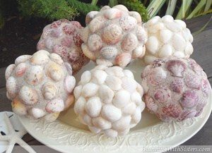 These Decorative Seashell Balls make a stylish home accent with seaside style. Iridescent glitter adds a little beach sparkle!