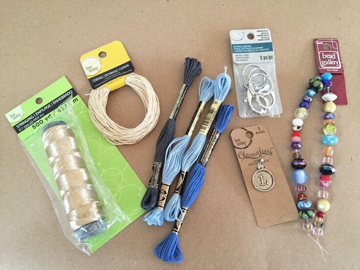 materials needed to make your own tassel keychains