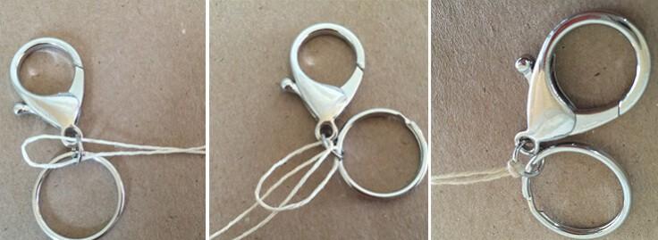 DIY tassel keychains with hemp cord tie