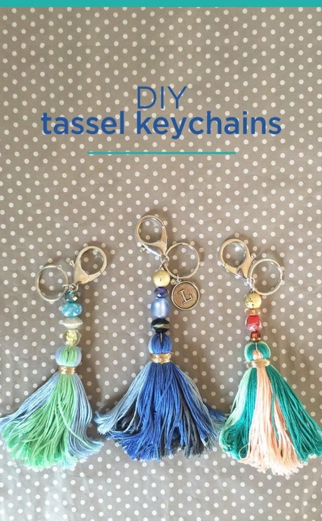 DIY tassels keychains