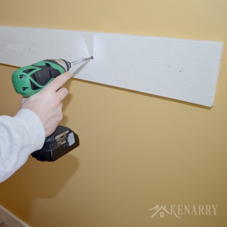 Attaching the board to the wall