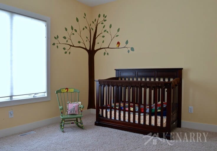 What a great baby nursery idea! I love how fun and colorful this alphabet themed room is. It's gender neutral too, so it would be perfect for a boy or a girl.