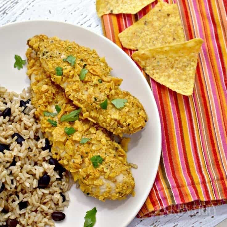 Make this delicious Tortilla Crusted Chicken recipe for an easy dinner idea your whole family will love.