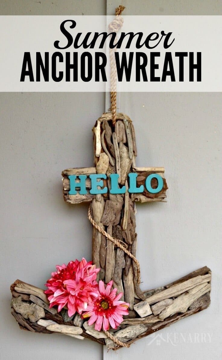 Anchor Wreath A Nautical Decor Idea For Summer