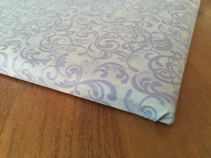 DIY ribbon bulletin board fabric front