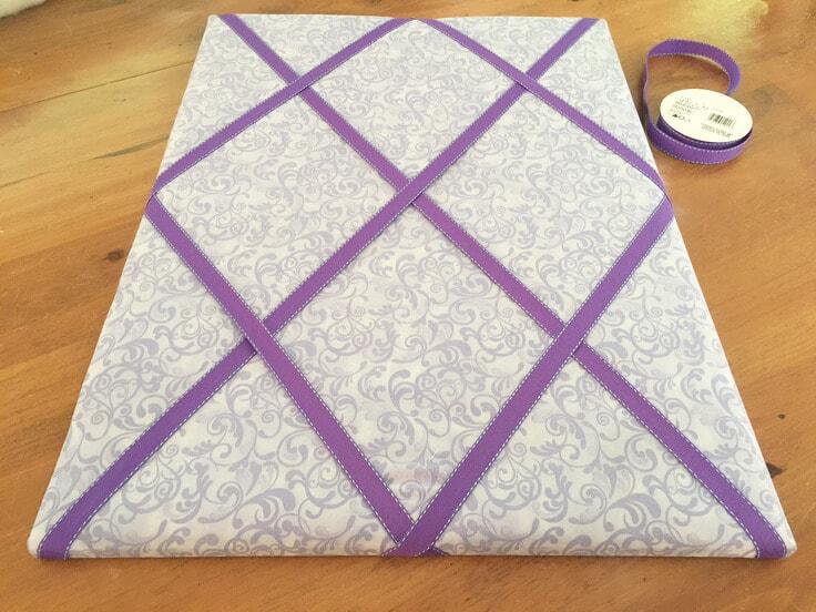 DIY ribbon bulletin board