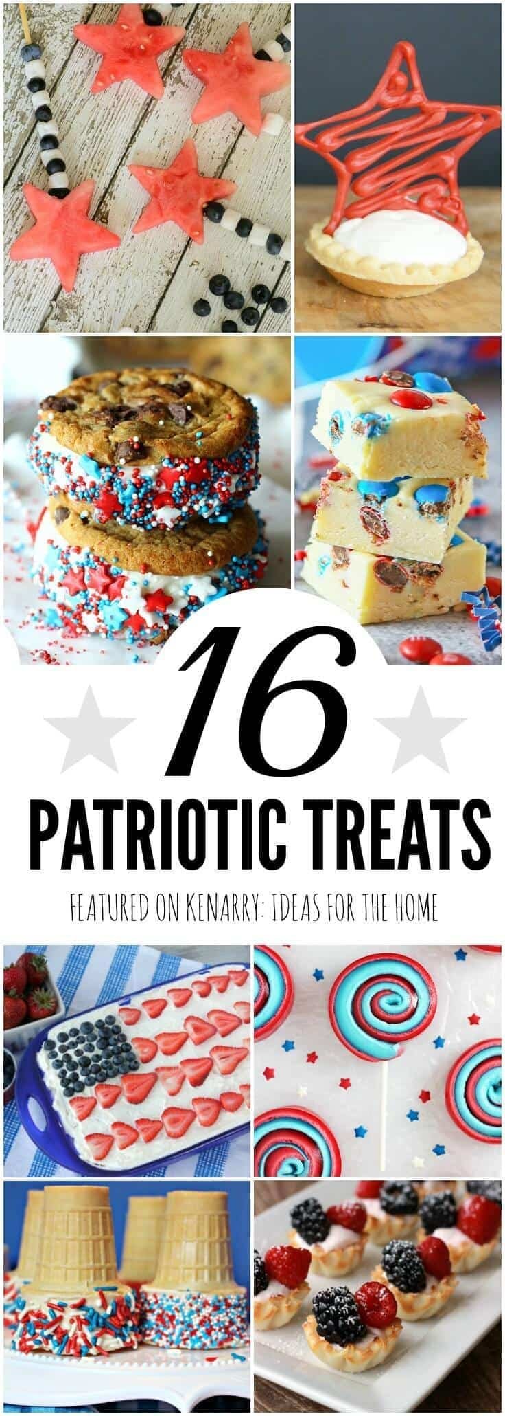 What delicious ideas for patriotic treats! These recipes would be perfect for 4th of July barbecues, Memorial Day picnics, Labor Day potlucks and other red, white and blue events throughout the summer.