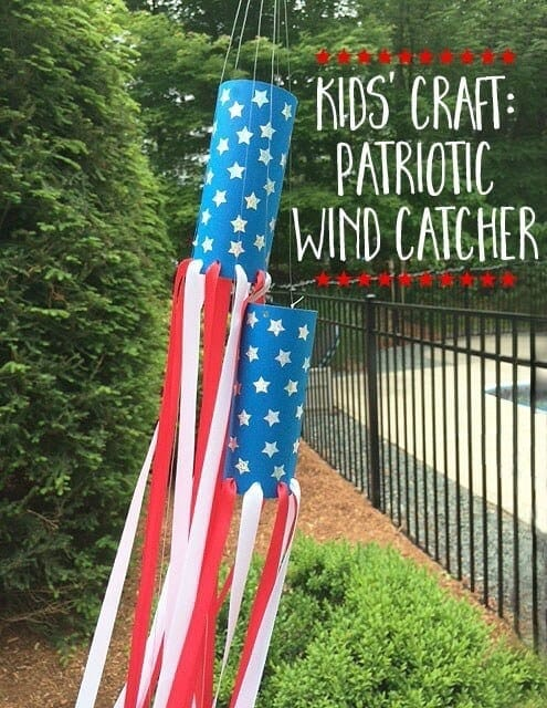 Kids' Craft Patriotic Wind Catcher – Greco Design Company - 4th of July Party Decor featured on Kenarry.com