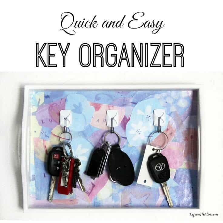 Quick and easy key organizer tutorial