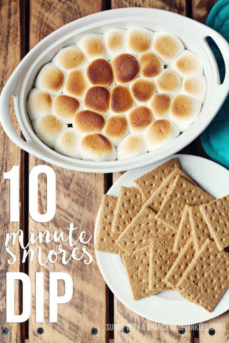 S'mores Dip Recipe – Sunny With a Chance of Sprinkles - 18 delicious s'mores recipes featured on Kenarry.com
