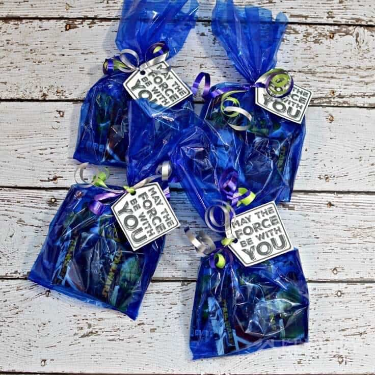 4 Star Wars birthday party treat bags