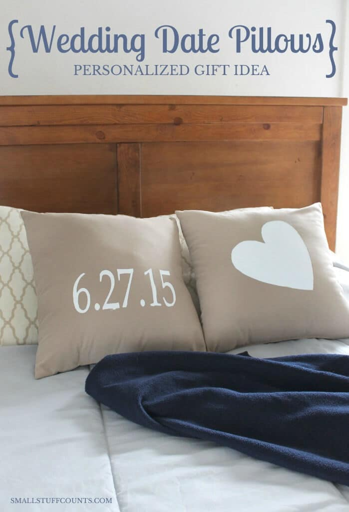 Personalized Gift Tutorial: Painted Pillows – The Small Stuff Counts - 18 DIY Throw Pillow Tutorials featured on Kenarry.com
