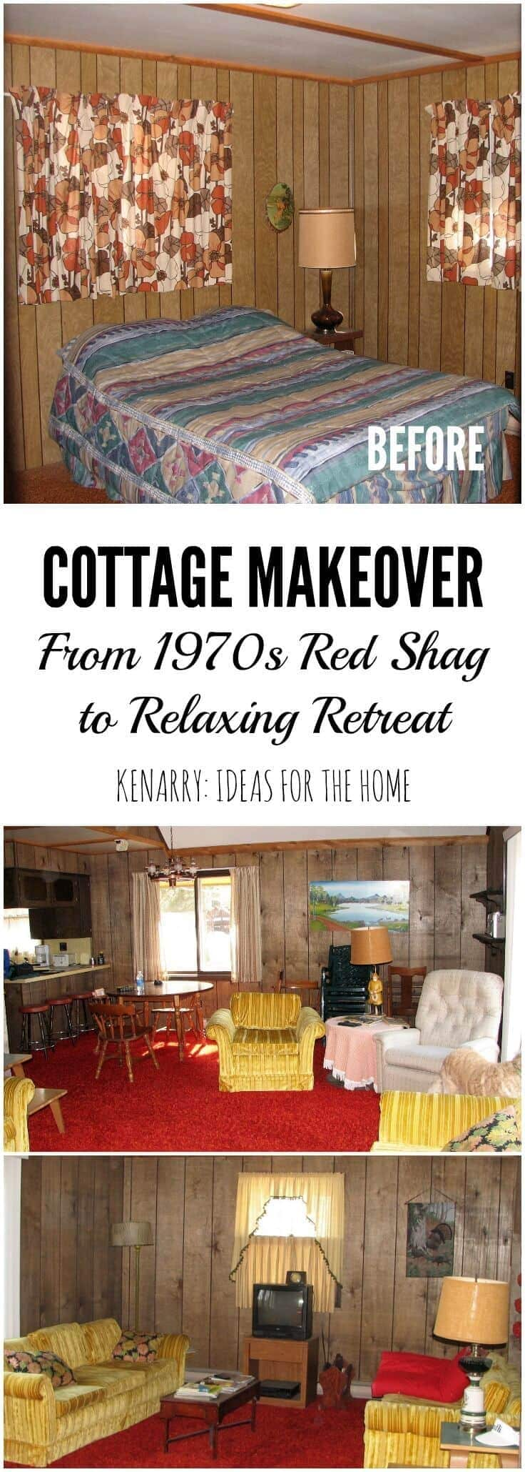 Wow! This little cabin was in desperate need of an extreme cottage makeover! I love seeing all the before/after photos as well as a video tour showing how this little home on a river has been transformed.