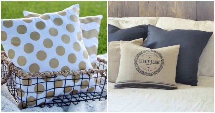 Ideas For Making Throw Pillows: DIY Throw Pillow Tutorials  18 Great Home Decor Ideas,