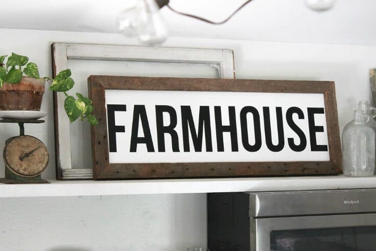 Farmhouse Wood Sign - Inspirational Home Decor Signs from The Summery Umbrella featured on Kenarry.com- Inspirational Home Decor Signs from The Summery Umbrella featured on Kenarry.com