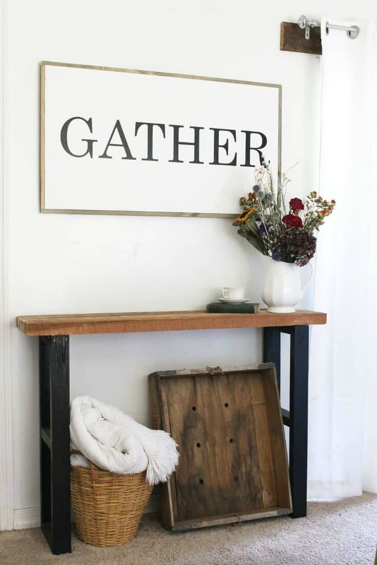 GATHER Wood Sign - Inspirational Home Decor Signs from The Summery Umbrella featured on Kenarry.com