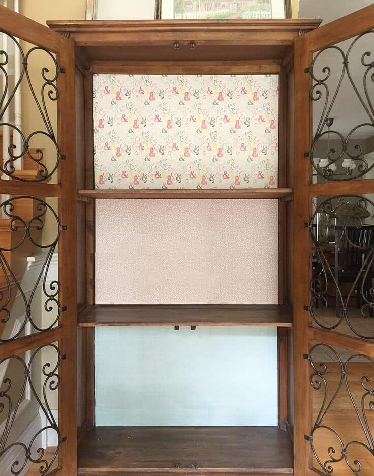 Add temporary color to a cabinet with paper
