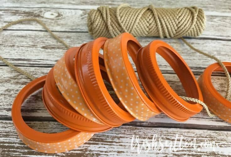 Fall Wreath Made With Mason Jar Rings And Craft Tape. Kenarry: Ides for the Home By Trish Sutton
