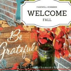 Farewell Summer, Welcome Fall